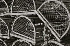 Vieux pièges de homard Images libres de droits
