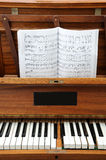 Vieux piano Photos libres de droits