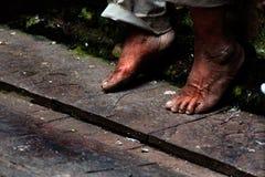 Vieux pieds Photos stock