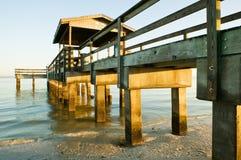 Vieux pilier de pêche Image libre de droits