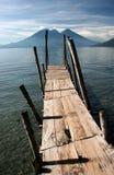 Vieux pilier en bois Photo stock