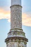 Vieux pilier en pierre Images libres de droits
