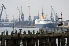 Vieux pilier et docks de Southampton Images stock