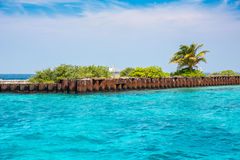 Vieux pilier, Maldives Photo stock