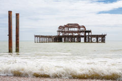 Vieux pilier occidental. Brighton, R-U Images libres de droits