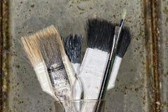 Vieux pinceau utilisé Images stock