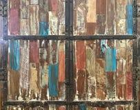 Vieux placard en bois peint grunge abstrait pour le fond et le t Images stock