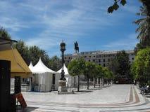 Vieux place et jardins de Séville images stock