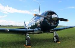 Vieux plan rapproché d'avion de combat de combattant Images libres de droits
