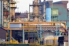 Vieux plan rapproché d'usine de fer Image libre de droits