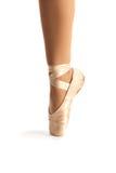 Vieux plan rapproché de chaussure de ballet de Pointe photos libres de droits
