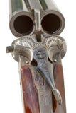 Vieux plan rapproché de fusil de chasse de double baril Image libre de droits