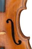 Vieux plan rapproché de violon image stock