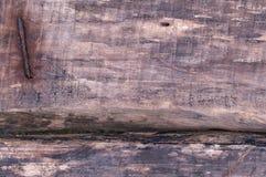 Vieux plan rapproché en bois foncé de texture Photographie stock libre de droits
