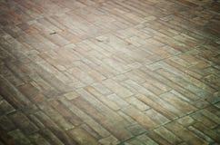Vieux plancher de bloc de béton Photographie stock libre de droits