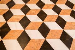 Vieux plancher de marbre Images libres de droits