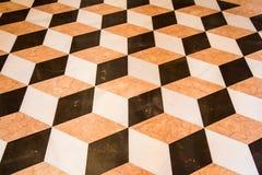 Vieux plancher de marbre Image stock