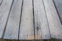 Vieux plancher en bois Photos stock