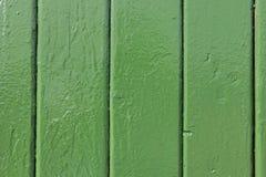 Vieux planking vert Photographie stock libre de droits