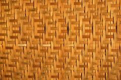 Vieux plateau en bambou Photographie stock libre de droits