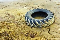 Vieux pneu Photographie stock libre de droits