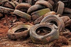 Vieux pneus Photographie stock