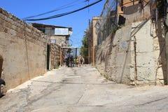 Vieux point de contrôle non gardé dans Hebron Images stock