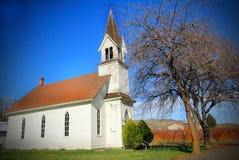 Vieux point de repère d'église Images stock