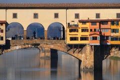 Vieux pont à Florence images libres de droits