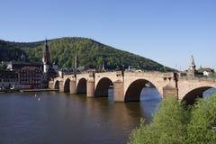 Vieux pont à Heidelberg, Allemagne Image stock