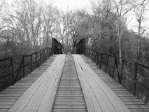 Vieux pont arrière en route Photographie stock