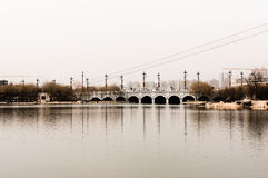 Vieux pont Chine Photo stock