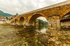 Vieux pont dans Konjic Images libres de droits