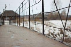 Vieux pont de barrière Images libres de droits