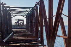 Vieux pont de chemin de fer Image libre de droits