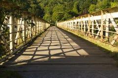 Vieux pont de chemin de fer, Redbrook. Photo libre de droits