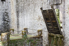 Vieux pont de château Images libres de droits