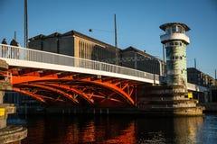 Vieux pont de Knippels de pont dans le habor de Copenhague denmark image libre de droits
