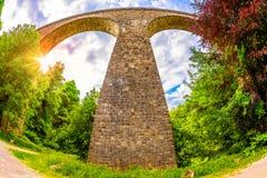 Vieux pont de voûte en Allemagne photos libres de droits