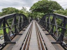 Vieux pont en acier du chemin de fer occidental Photographie stock libre de droits