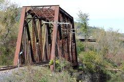 Vieux pont en bois en chemin de fer Photos stock