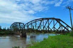 Vieux pont en chemin de fer Photos stock