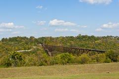 Vieux pont en chemin de fer d'abandon au Kentucky, Etats-Unis Photos libres de droits