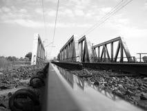 Vieux pont en fer Photo stock