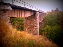 Vieux pont en fer Photo libre de droits