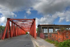Vieux pont en métal Photos libres de droits