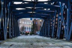 Vieux pont en métal Image libre de droits