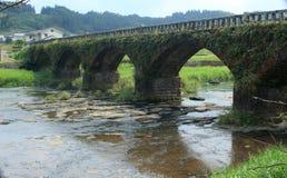 Vieux pont en pierre au Japon Images stock