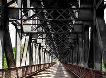 Vieux pont en sidérurgique Image libre de droits