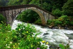 Vieux pont en tabouret images libres de droits